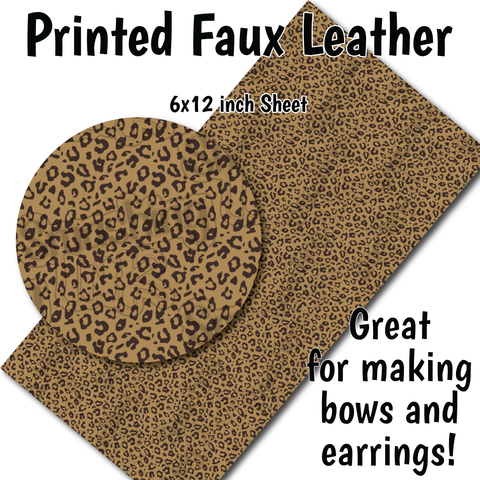 Cheetah Print - Faux Leather Sheet (SHIPS IN 3 BUS DAYS)