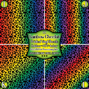 Rainbow Cheetah - Pattern Vinyl (READY IN 3 BUS DAYS)