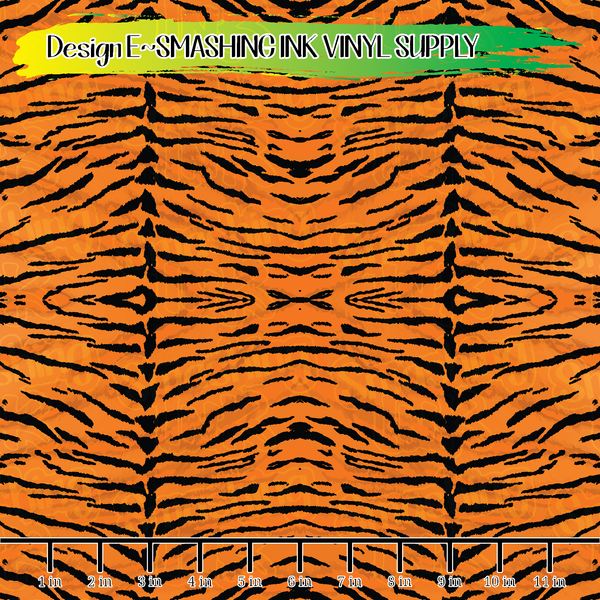 Small Scale Tiger Stripes - Pattern Vinyl (READY IN 3 BUS DAYS)