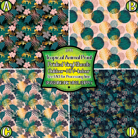Tropical Animal Print - Pattern Vinyl (SHIPS IN 3 BUS DAYS)
