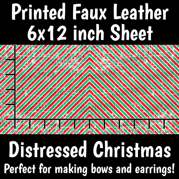 Distressed Christmas - Faux Leather Sheet (SHIPS IN 3 BUS DAYS)