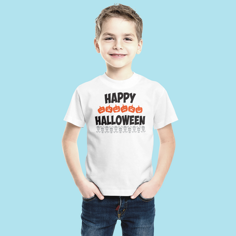 Happy Halloween Pumpkins & Skeletons - Sublimation Transfer