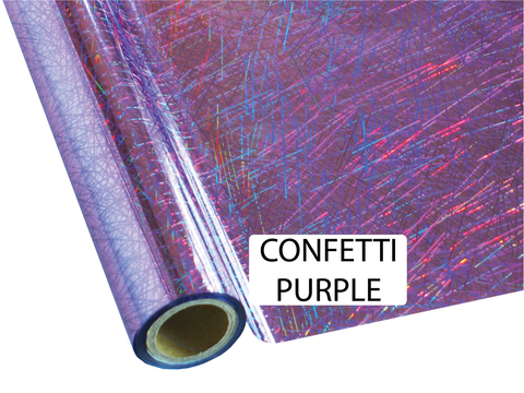 Confetti Purple - Heat Transfer Foil Foil