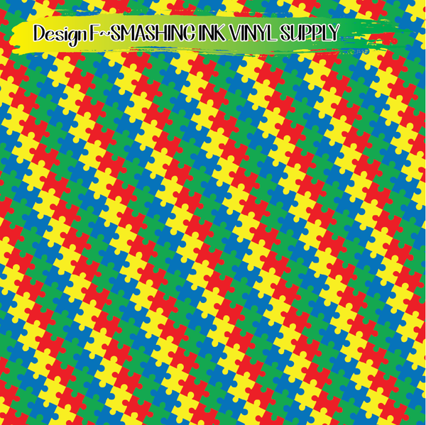 Puzzle Cause - Pattern Vinyl (READY IN 3 BUS DAYS)