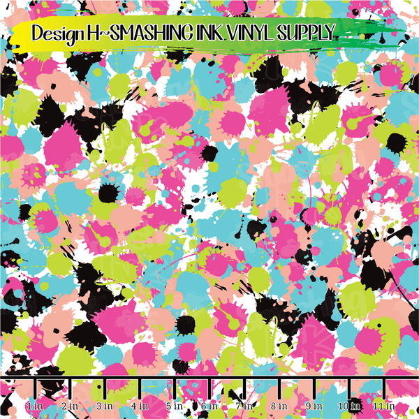 Paint Splatter - Pattern Vinyl (READY IN 3 BUS DAYS)