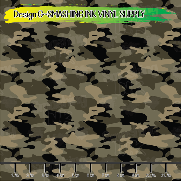 Camouflage  - Pattern Vinyl (READY IN 3 BUS DAYS)