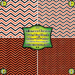 Halloween Chevron  - Pattern Vinyl (READY IN 3 BUS DAYS)
