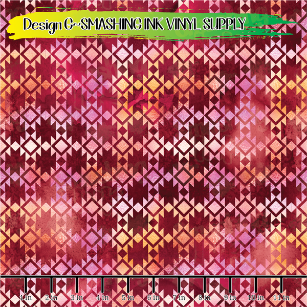 Boho Grunge - Pattern Vinyl (READY IN 3 BUS DAYS)