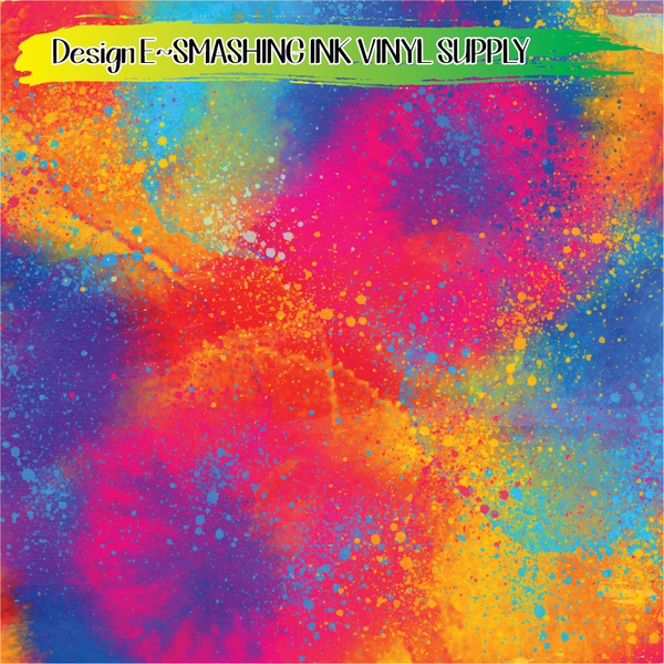 Colorful Splatter - Pattern Vinyl (READY IN 3 BUS DAYS)
