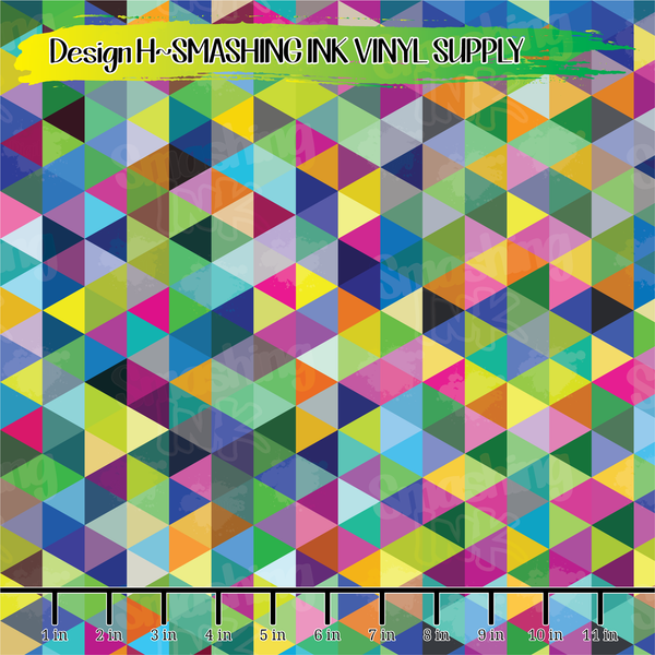 Geometric Triangles 2  - Pattern Vinyl (SHIPS IN 3 BUS DAYS)