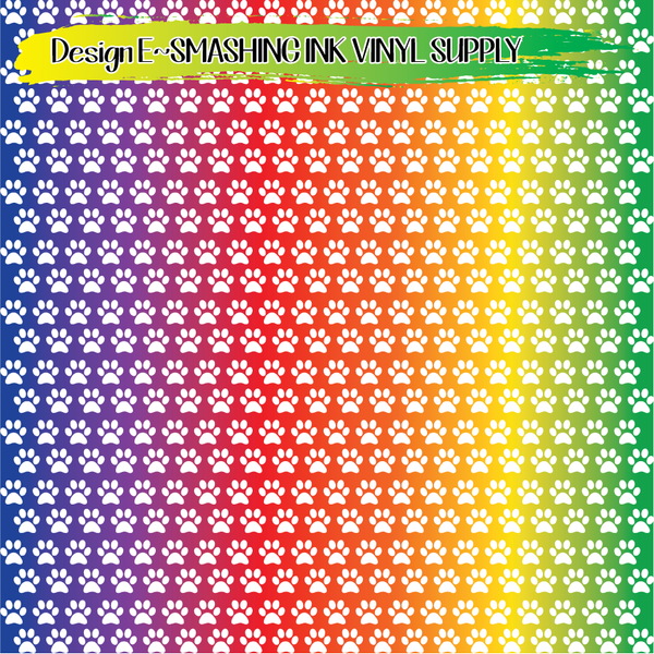 Colorful Pawprint - Pattern Vinyl (READY IN 3 BUS DAYS)