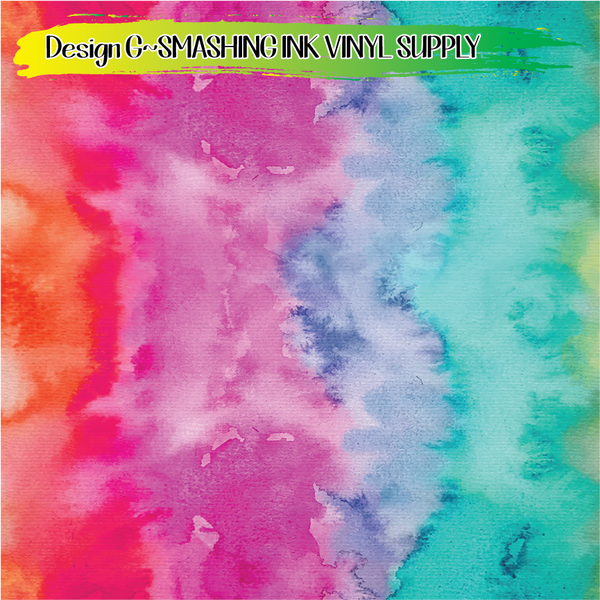 Rainbow Watercolor- Pattern Vinyl (READY IN 3 BUS DAYS)