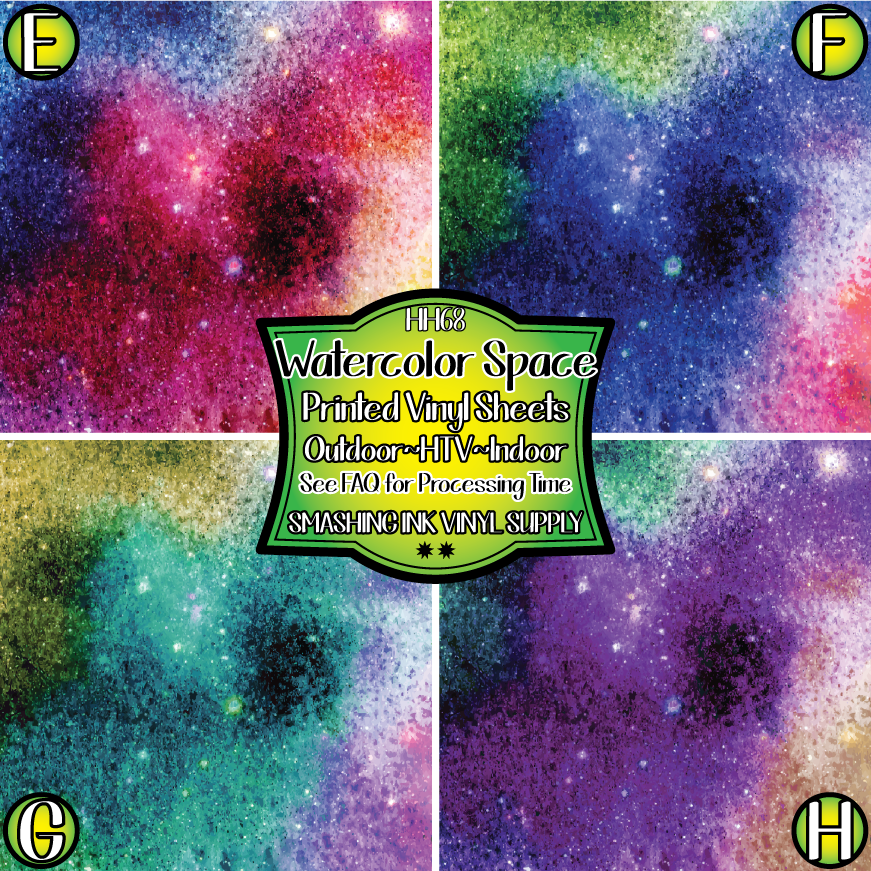 Watercolor Space - Pattern Vinyl (READY IN 3 BUS DAYS)