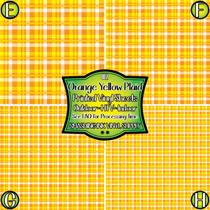 Orange Yellow Plaid - Pattern Vinyl (READY IN 3 BUS DAYS)