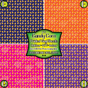 Candy Corn - Pattern Vinyl (SHIPS IN 3 BUS DAYS)