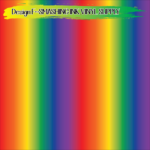 Rainbow Ombre - Pattern Vinyl (SHIPS IN 3 BUS DAYS)