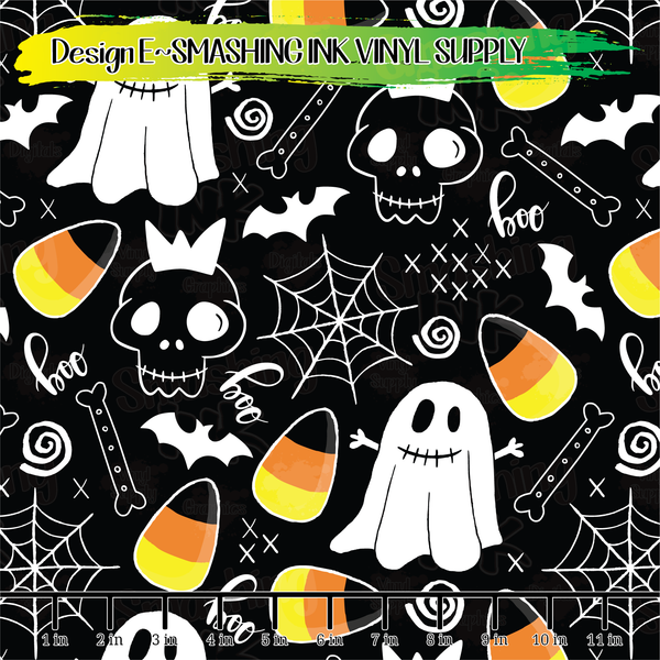 HALLOWEEN DOODLES  - Pattern Vinyl (SHIPS IN 3 BUS DAYS)