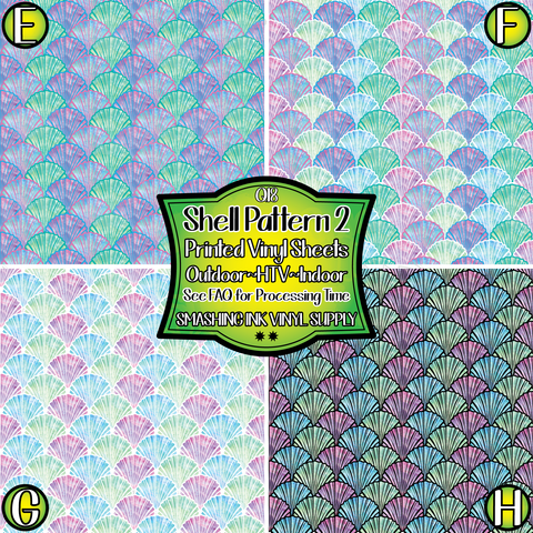 SHELL PATTERN 2- Patterned Vinyl