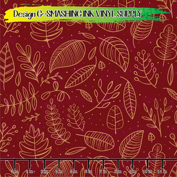 Fall Leaves - Pattern Vinyl (READY IN 3 BUS DAYS)