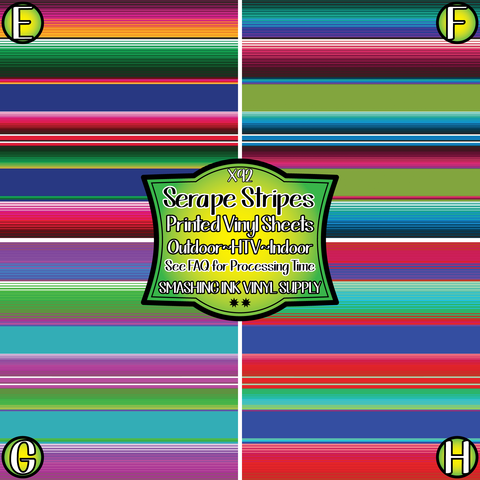 SERAPE STRIPES- Patterned Vinyl