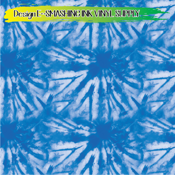 Blue Tie Dye - Pattern Vinyl (SHIPS IN 3 BUS DAYS)
