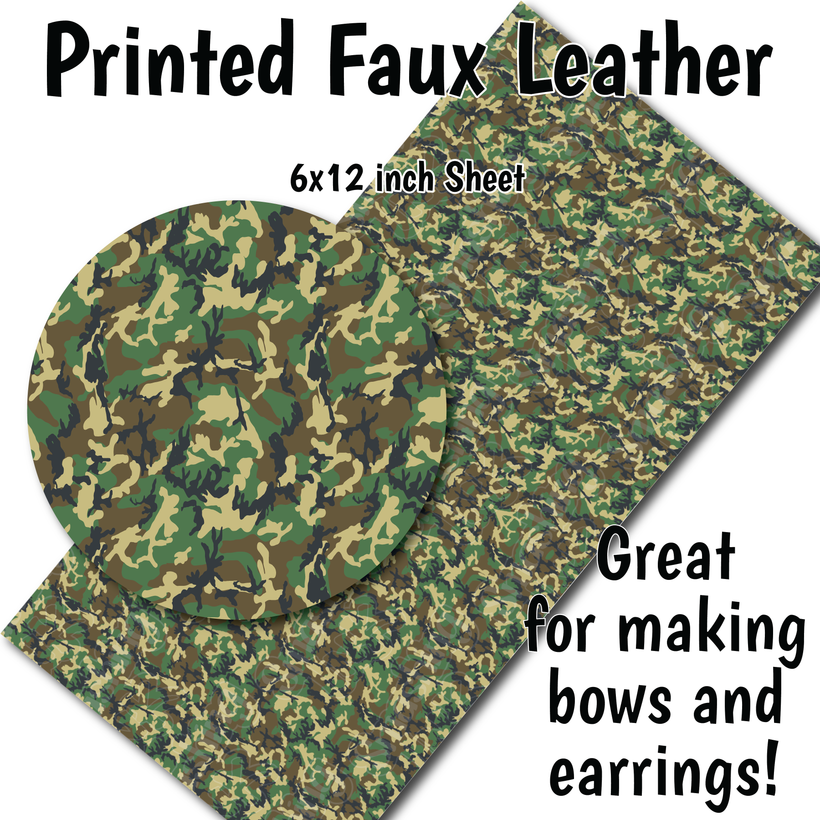 Camo Patterns - Faux Leather