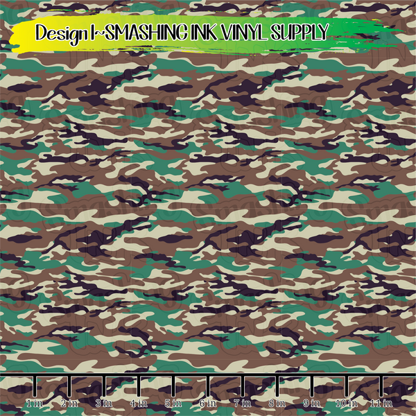 Military Camo - Pattern Vinyl (SHIPS IN 3 BUS DAYS)