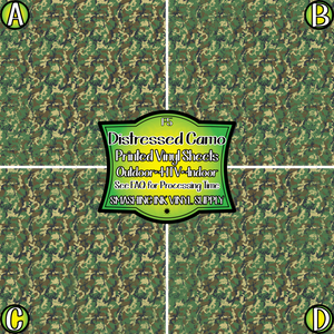 Distressed Military Camo - Pattern Vinyl (READY IN 3 BUS DAYS)