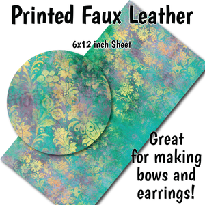 Distressed Floral - Faux Leather Sheet (MTO-3 BUS DAYS)