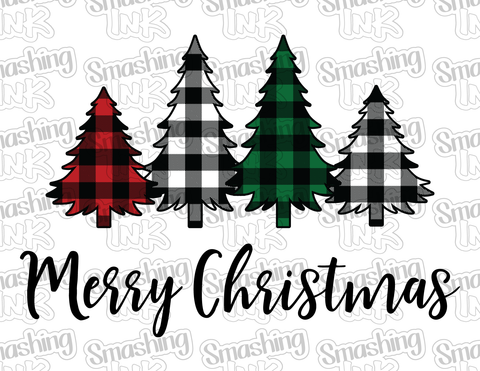 Merry Christmas Trees - Printable Graphic
