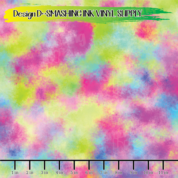 Colorful Blur - Pattern Vinyl (READY IN 3 BUS DAYS)