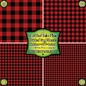 Red Buffalo Plaid - Patterned Vinyl Done Printed