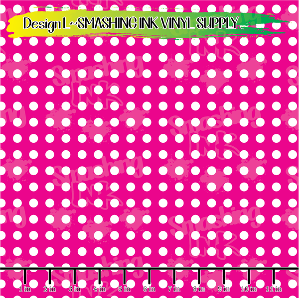Pink White Dots- Pattern Vinyl (READY IN 3 BUS DAYS)
