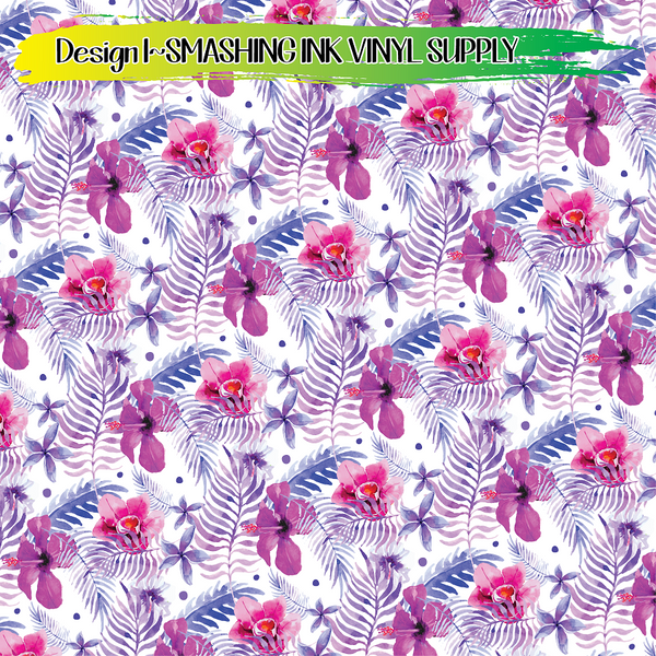 Tropical Flowers - Pattern Vinyl (READY IN 3 BUS DAYS)