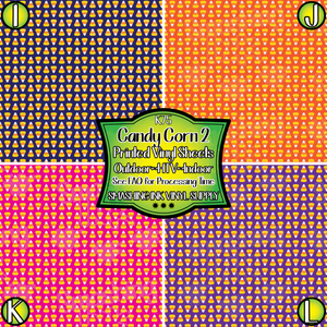 Candy Corn 2 - Pattern Vinyl (READY IN 3 BUS DAYS)