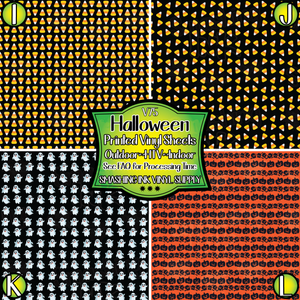Halloween- Pattern Vinyl (READY IN 3 BUS DAYS)