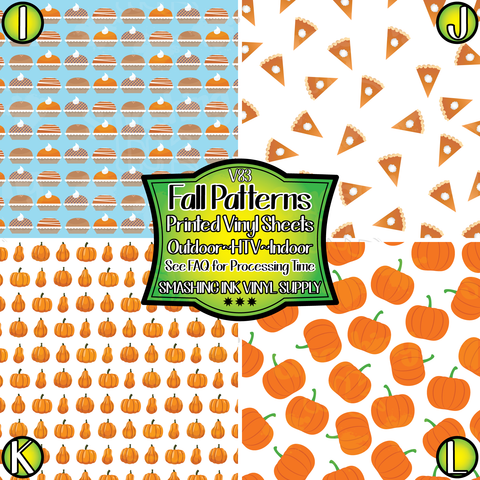 Fall Patterns - Pattern Vinyl (READY IN 3 BUS DAYS)