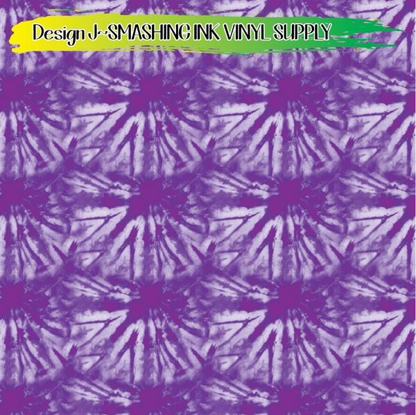 Purple Tie Dye - Pattern Vinyl (SHIPS IN 3 BUS DAYS)