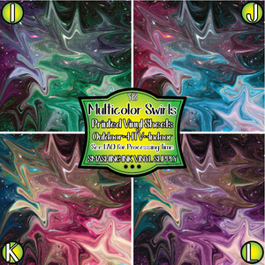 Multicolor Swirls - Pattern Vinyl (READY IN 3 BUS DAYS)