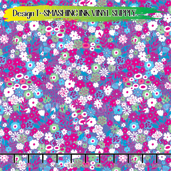Small Scale Flowers - Pattern Vinyl (READY IN 3 BUS DAYS)
