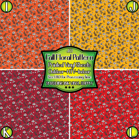 Fall Floral - Pattern Vinyl (READY IN 3 BUS DAYS)
