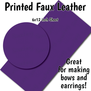 Solid Deep Purple - Faux Leather Sheet (SHIPS IN 3 BUS DAYS)