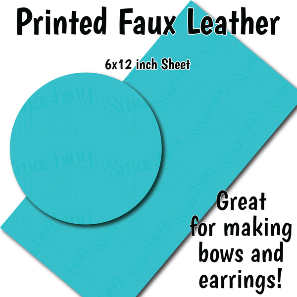 Aqua - Faux Leather Sheet (SHIPS IN 3 BUS DAYS)