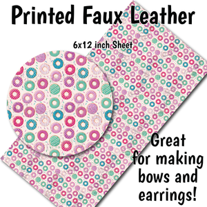 Donut Pattern - Faux Leather Sheet (MTO-3 BUS DAYS)
