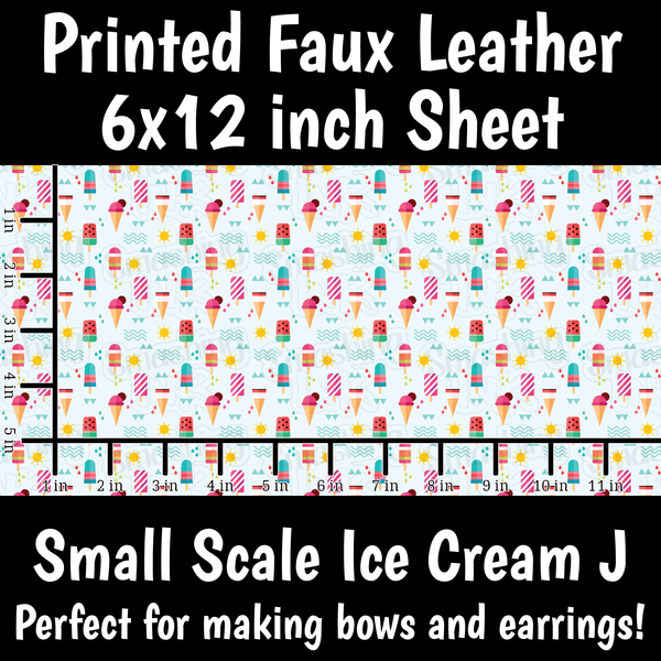 Small Scale Ice Cream J - Faux Leather Sheet (SHIPS IN 3 BUS DAYS)