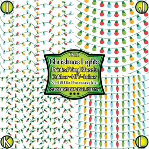 Christmas Lights - Pattern Vinyl (READY IN 3 BUS DAYS)