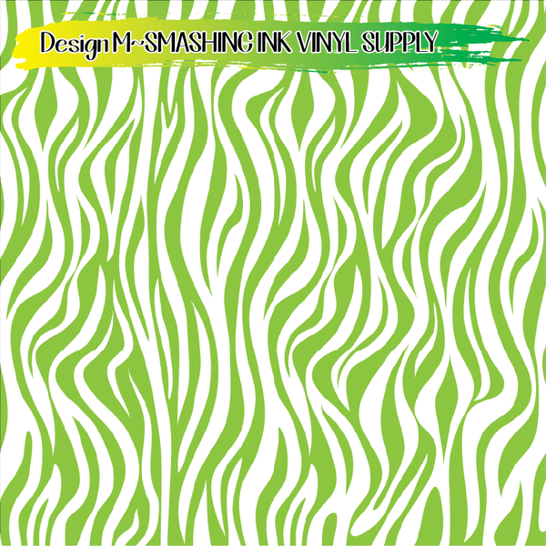 Lime White Animal Print - Pattern Vinyl (READY IN 3 BUS DAYS)