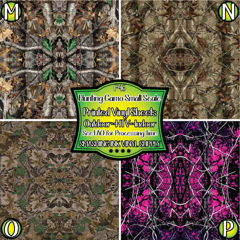 Hunting Camo Small Scale - Pattern Vinyl (SHIPS IN 3 BUS DAYS)