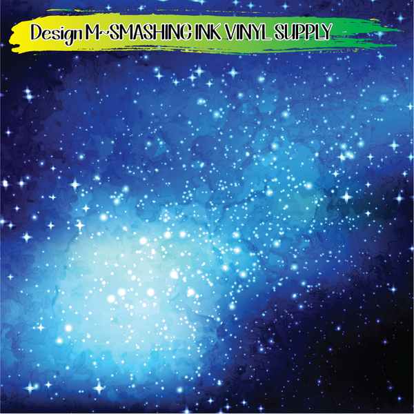 Blue Space Galaxy - Pattern Vinyl (READY IN 3 BUS DAYS)