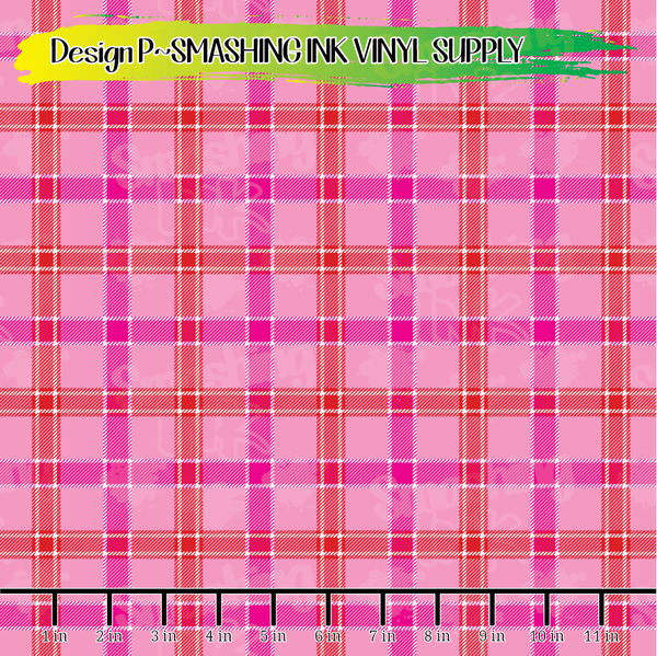 Valentine Plaid - Pattern Vinyl (READY IN 3 BUS DAYS)